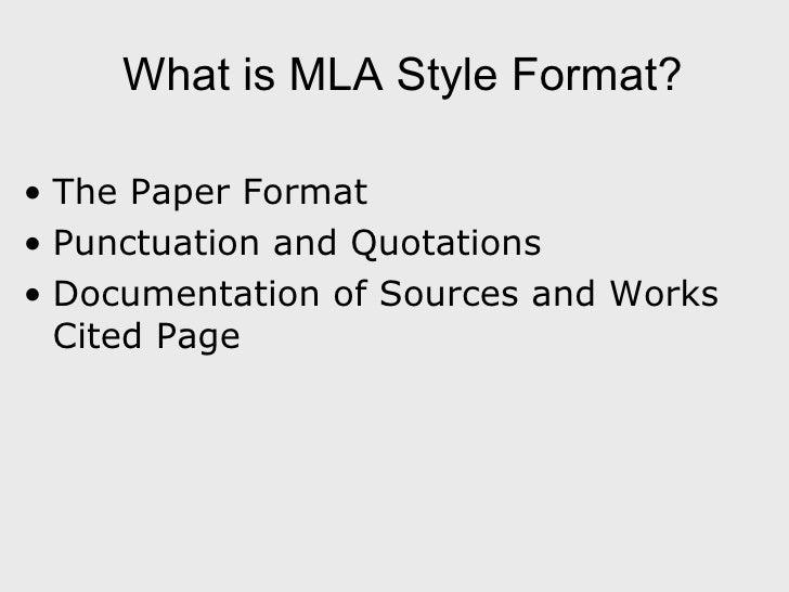 mla documentation format
