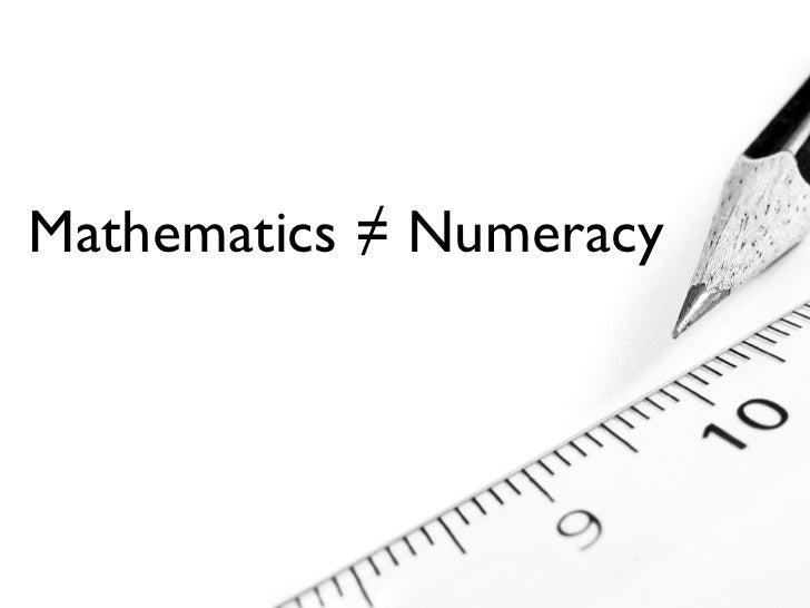 Understanding Numeracy