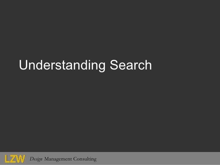 Understanding Search