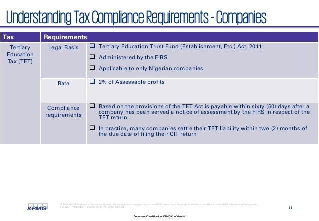 tax compliance in nigeria This is particularly so, since tax compliance is of obvious importance for most countries this work aims to study tax compliance in nigeria,.