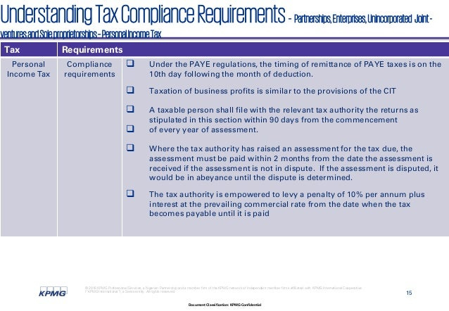 tax compliance in nigeria Verboon and dijke (2014) stated that tax compliance is the willingness of individuals to comply with relevant tax authorities by paying their taxes tax compliance can be defined as an ability of a tax liable body to submit accurate, complete and satisfactory returns in conformity with tax laws and regulations.