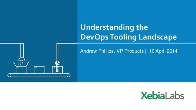 Understanding the DevOpsTooling Landscape Andrew Phillips, VP Products | 10 April 2014