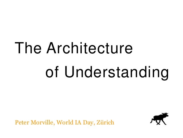 The Architecture of Understanding Peter Morville, World IA Day, Zürich
