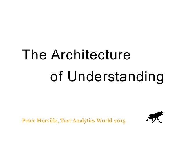 The Architecture of Understanding Peter Morville, Text Analytics World 2015
