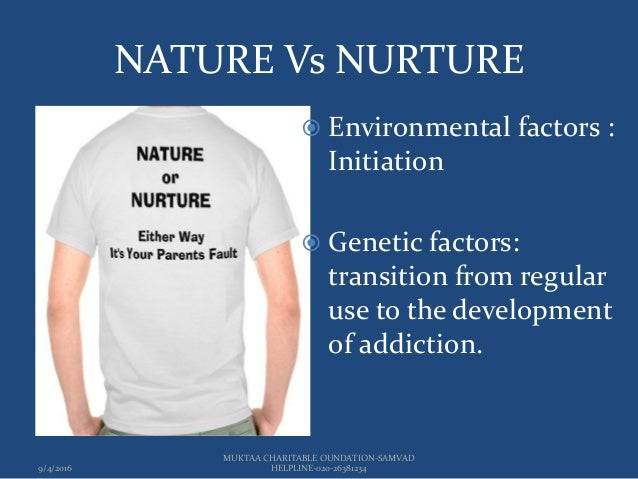 Understanding the role of nature versus nurture in alcohol addiction