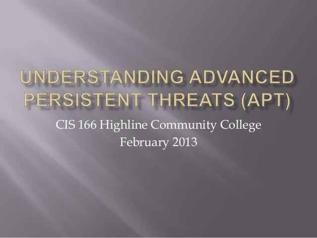 CIS 166 Highline Community College           February 2013