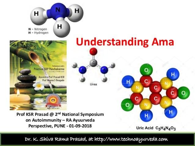 Understanding AmaUnderstandingAma ProfKSR Prasad@2nd NationalSymposium onAutoimmunity– RAAyuurveda P ti PUNE 01 0...