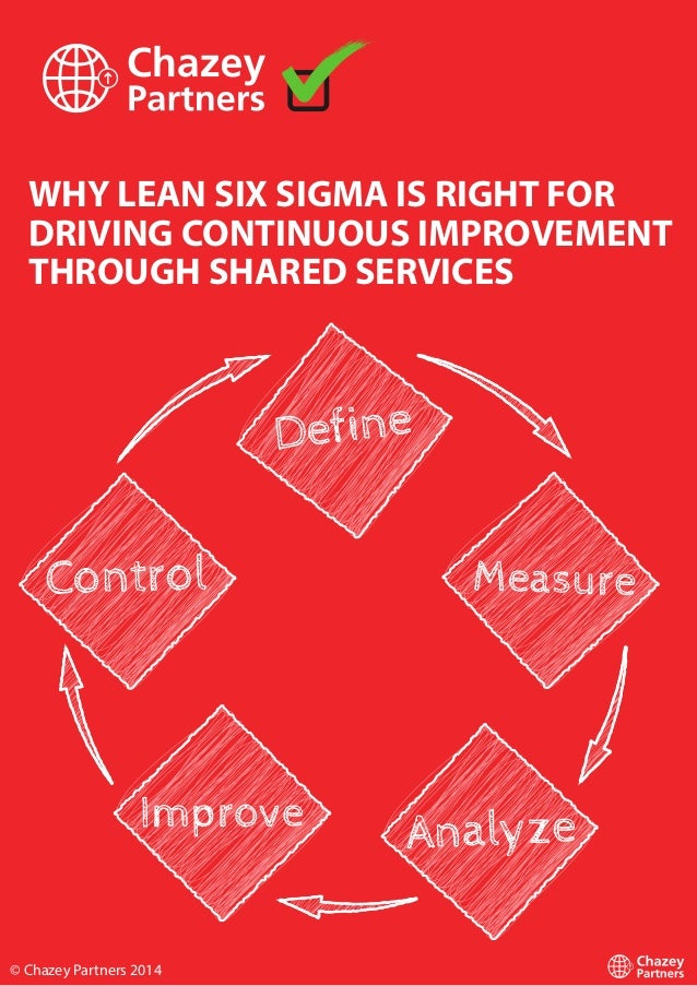 WHY LEAN SIX SIGMA IS RIGHT FOR DRIVING CONTINUOUS IMPROVEMENT THROUGH SHARED SERVICES © Chazey Partners 2014