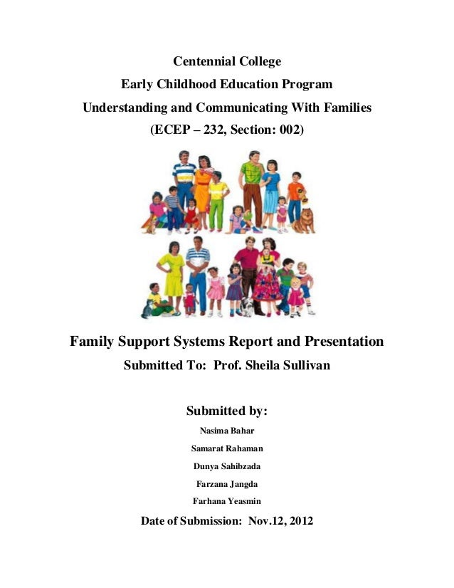 Centennial College       Early Childhood Education Program Understanding and Communicating With Families           (ECEP –...