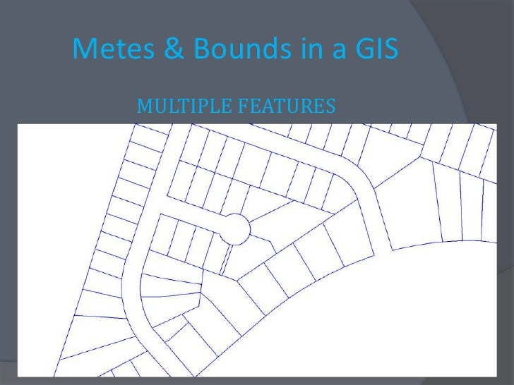 writing a metes and bounds description