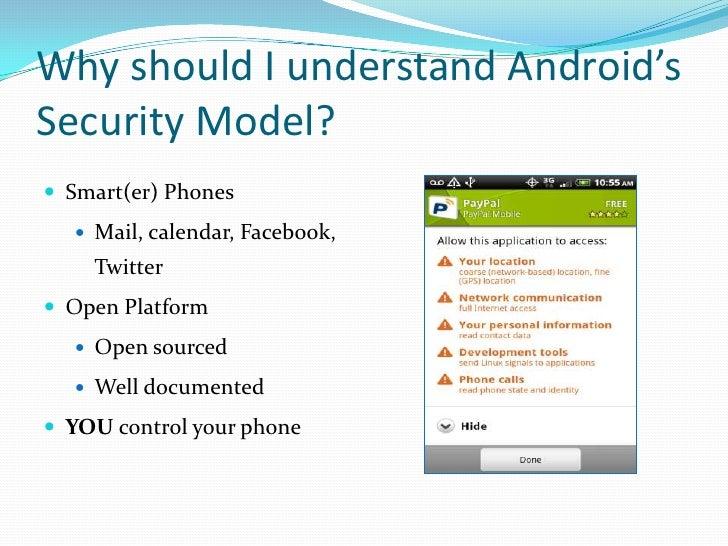 Understanding android security model Slide 3