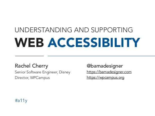 #a11y UNDERSTANDING AND SUPPORTING