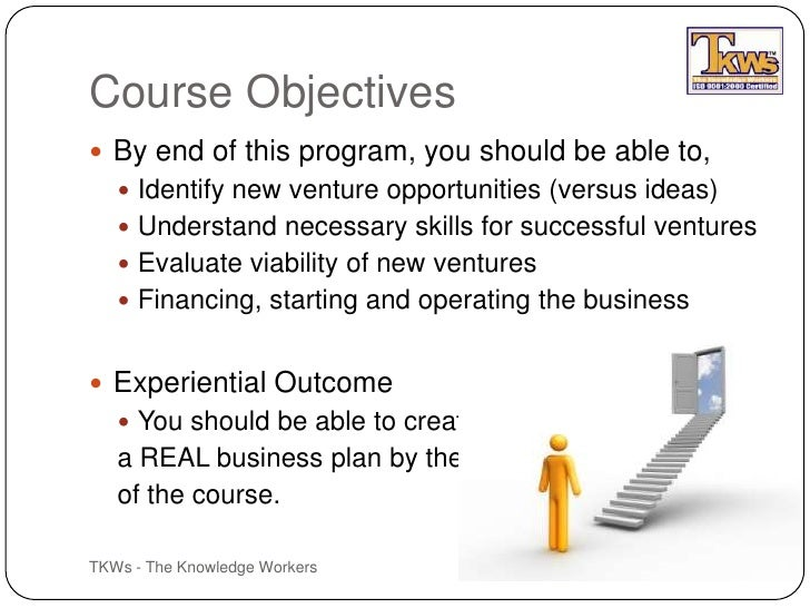new venture planning and entrepreneurship: course objectives essay Create a new course from any lesson page or your dashboard from any   name your custom course and add an optional description or learning objective  organize:  crisis planning & management in business: definition & elements.