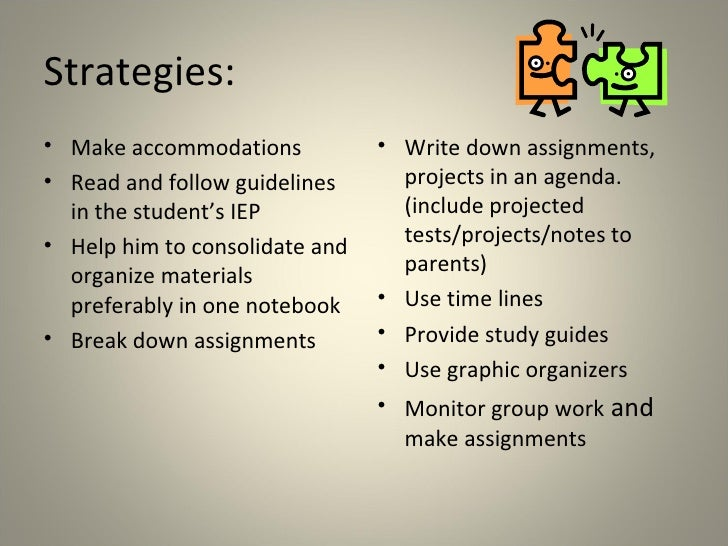Nesa writing accommodations for special needs