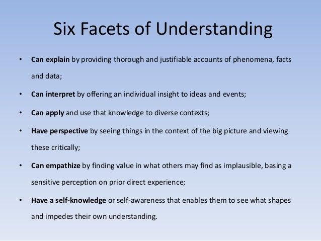 six facets of understanding essay
