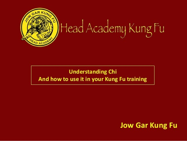 Understanding Chi And how to use it in your Kung Fu training Jow Gar Kung Fu