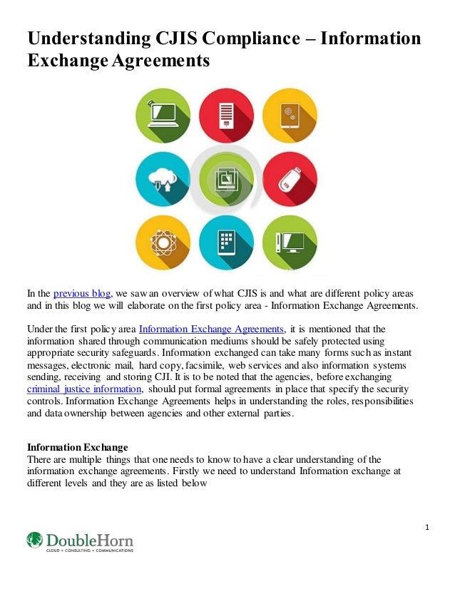 Understanding Cjis Compliance  Information Exchange Agreements