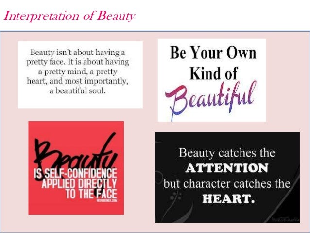 Interpretation of Beauty