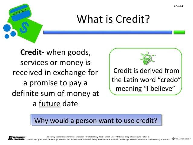 Credit Definition Economics