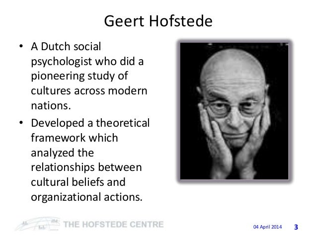 work centrality and hofstede s four dimensions The relative importance of work compared to that of leisure, community, religion,  and family is known as work centrality it is the degree of.