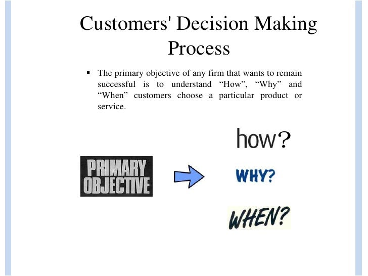 customers decision making process