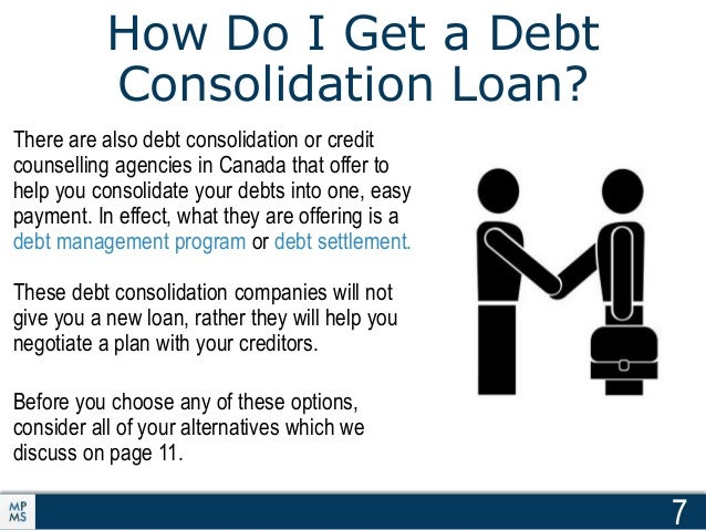 Consolidating your debt canada