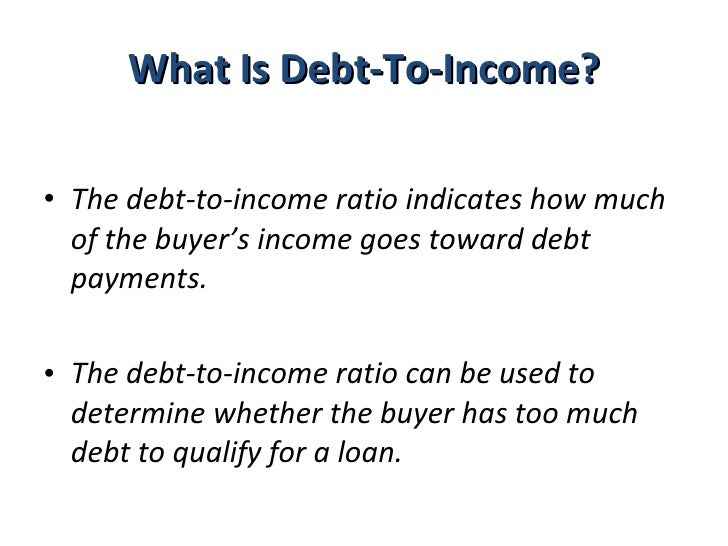 dept to income ratio how to read ti
