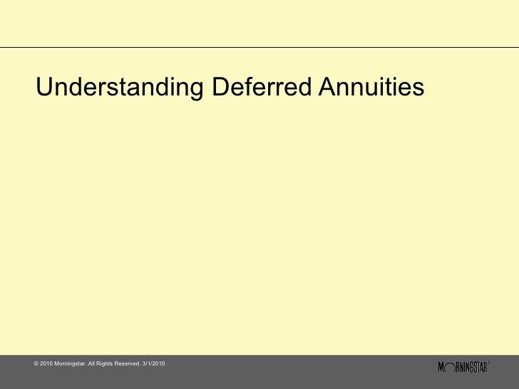 Understanding Deferred Annuities