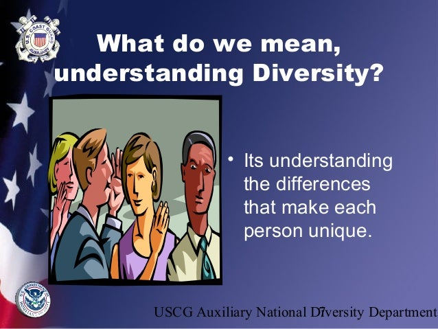 Understanding Diversity Training by USCG Auxiliary National Diversity…