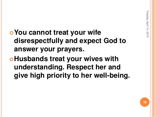 understanding each other in marriage