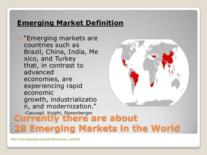 Emerging markets and characteristic of emerging markets Essay Sample