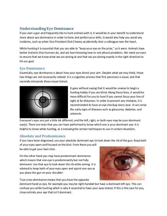 how to change eye dominance