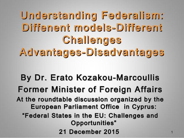 Understanding Federalism: Diffenent models-Different ...
