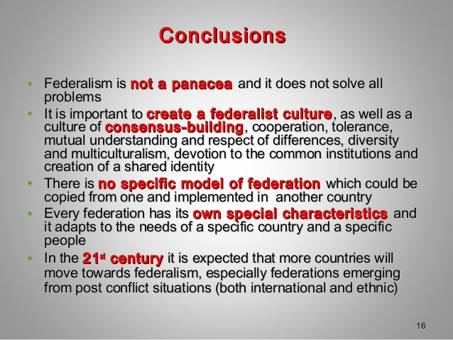 federalism importance and advantages We need to stop ignoring the benefits of federalism, fix the financial imbalances  that are currently reducing its potential, and build a new.