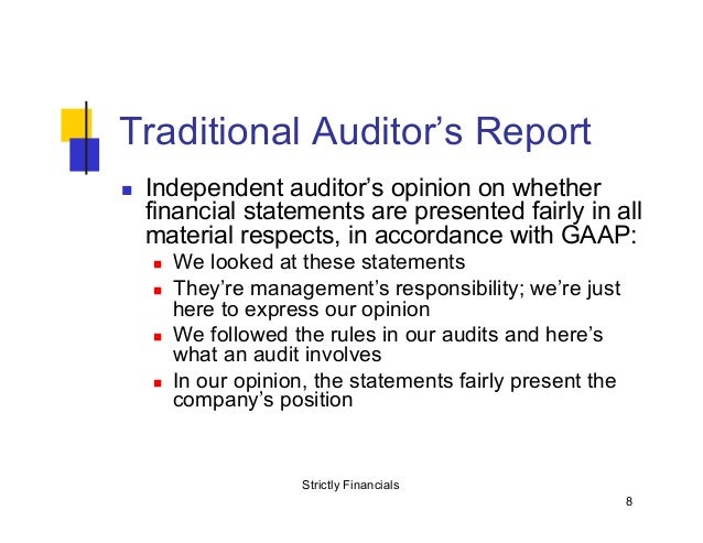 understanding the auditor s report Other matters(om) para: a para included in auditor's report that refers to a matter other than those presented in financial statement, that in auditor's judgement, is of such importance that requires users understanding towards audit report, audit and auditor's responsibility.
