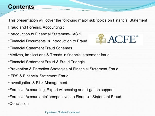 an essay on forensic accounting Forensic accounting provides an accounting analysis that is suitable to the court which will form the basis for discussion, debate and ultimately dispute resolution.