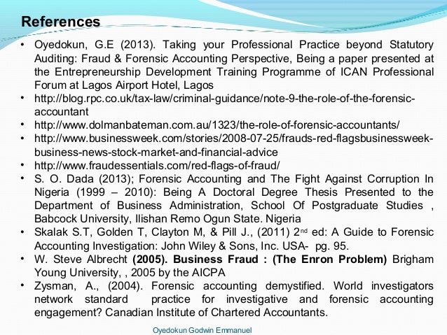 Accounting essay forensic