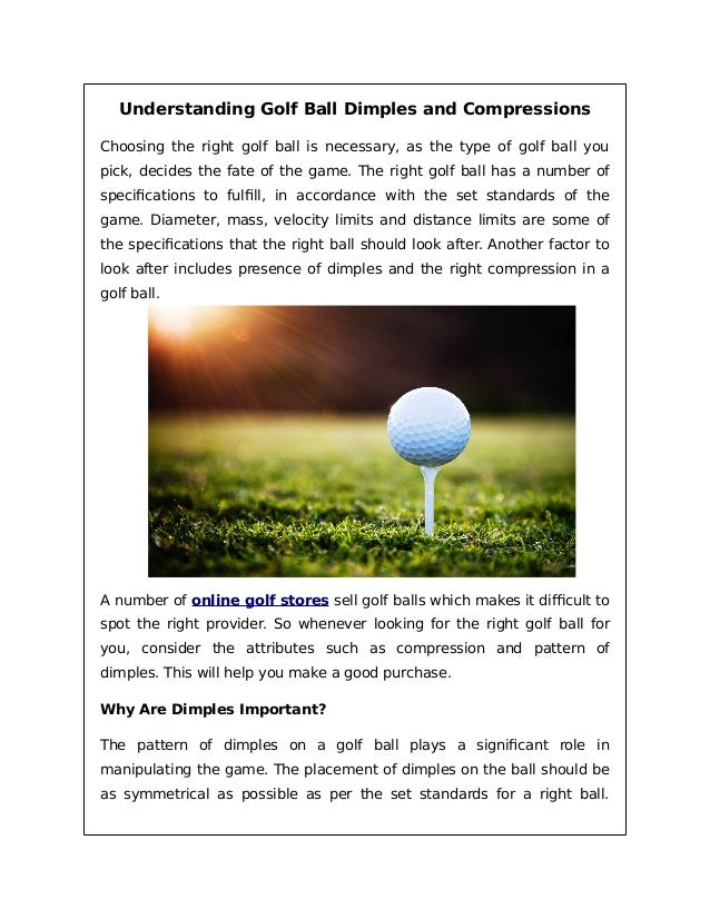 Understanding golf ball dimples and compressions