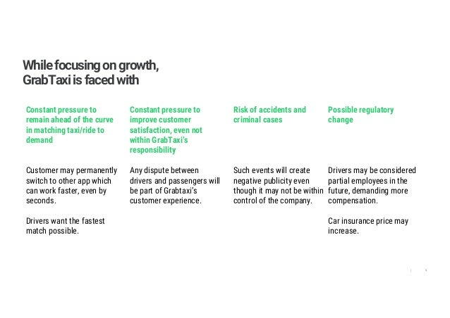 9| Whilefocusingongrowth, GrabTaxiisfacedwith Constant pressure to remain ahead of the curve in matching taxi/ride to dema...