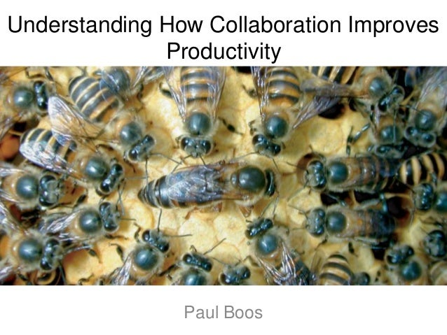 Understanding How Collaboration Improves Productivity Paul Boos