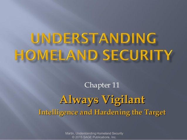 Chapter 11 Always VigilantAlways Vigilant Intelligence and Hardening the TargetIntelligence and Hardening the Target Marti...