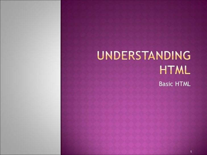 Basic HTML 1