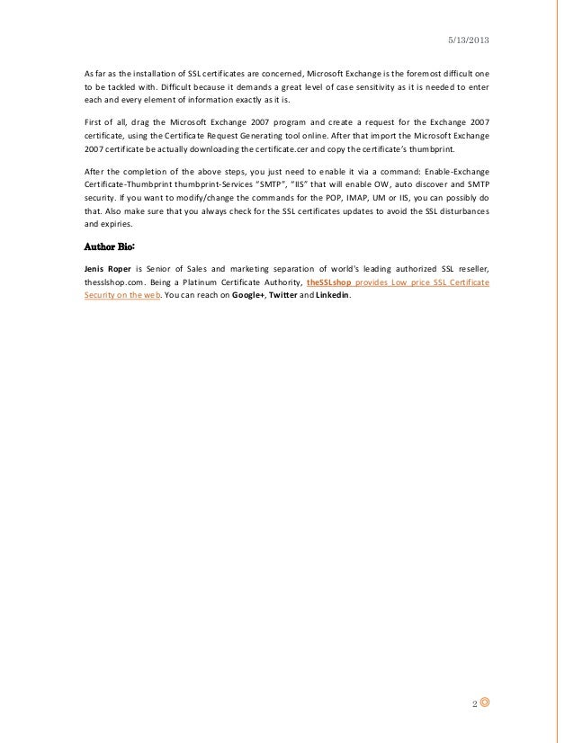 Understanding Https Types Of Ssl Certificates And Installing A Ssl C