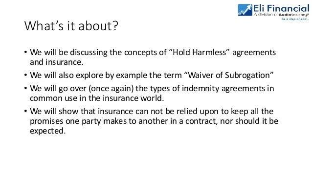 Understanding Indemnity Agreements In Contracts Vs