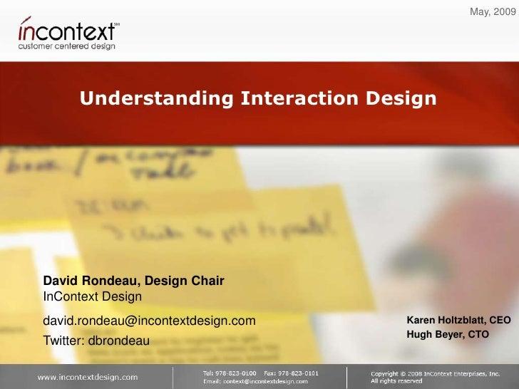 Understanding Interaction Design