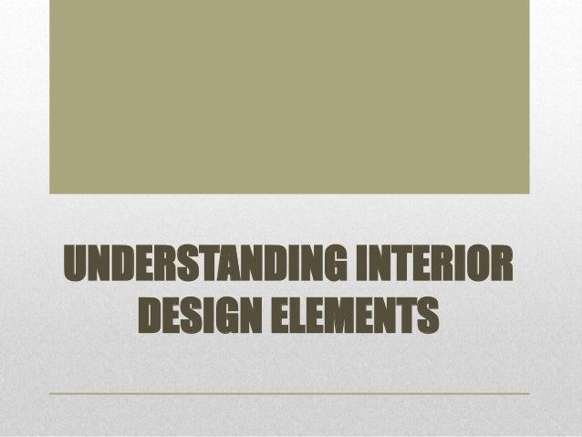 Understanding Interior Design Elements
