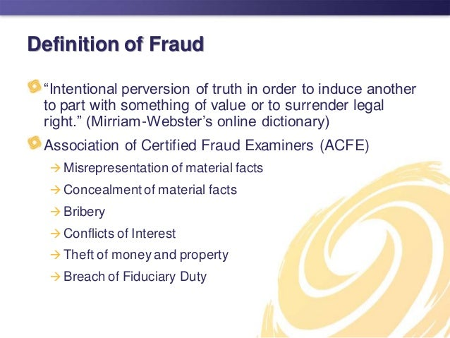 Charming Definition Of Fraud U201c ...