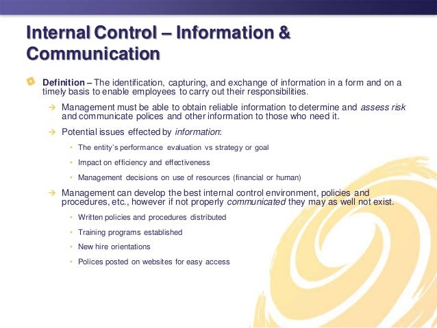 the importance of internal controls essay Internal controls in accounting essay a+  annual evaluations of the company's internal financial controls,  in the company and importance of .