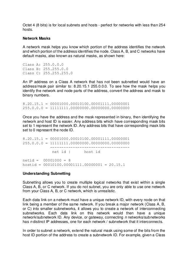 Understanding ip addresses