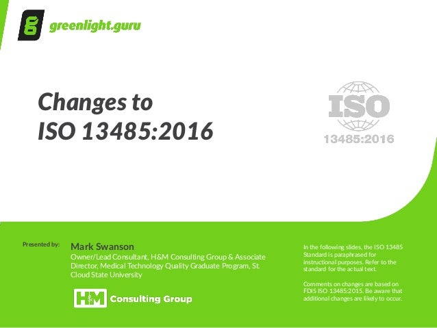 understanding the new iso 13485 2016 revision